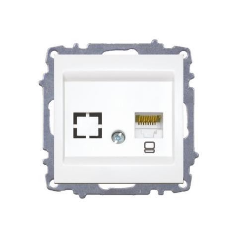 Изображение ZENA модуль белый Розетка компьютерная /1раз Е5/