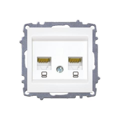 Изображение ZENA модуль белый Розетка компьютерная /2раз Е5/