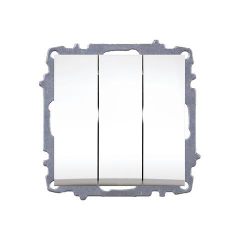 Изображение ZENA модуль крем Выключатель тройной