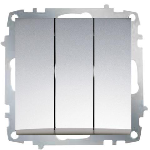 Изображение ZENA модуль серебро Выключатель тройной