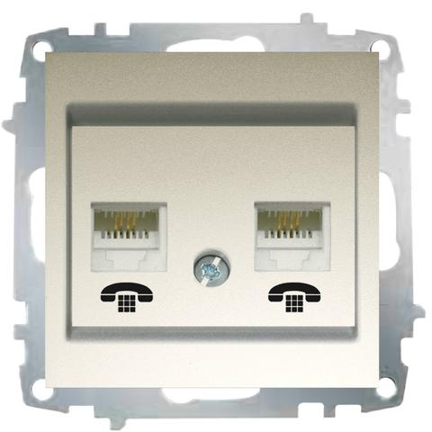 Изображение ZENA модуль титан Розетка телефонная 2-я