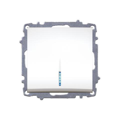 Изображение ZENA модуль темный орех Выключат 1 кл с подсветкой