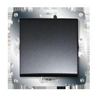 Изображение ZENA модуль черный Выключатель 1 кл