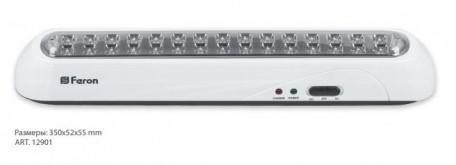 Изображение Светильник аккумуляторный, 30 LED AC/DC, белый, EL20
