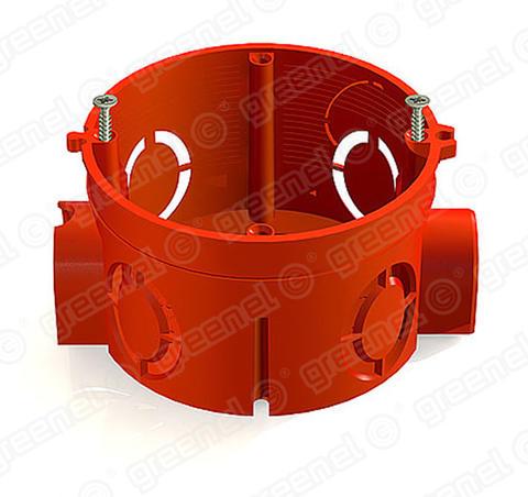 Изображение Коробка установочная для кирпичных стен с саморезами 68*42 (300шт)