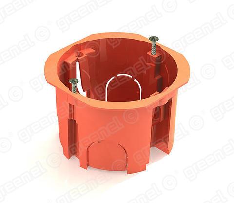 Изображение Коробка установочная для кирпичных стен с саморезами 68*45 (100шт)