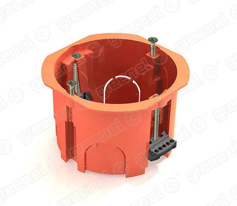 Изображение Коробка установочная 68*45 для полых стен с пласт.лапками (100шт)