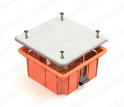 Изображение Коробка распределительная 92*92*45 для полых стен с пл. зажимами (126шт)