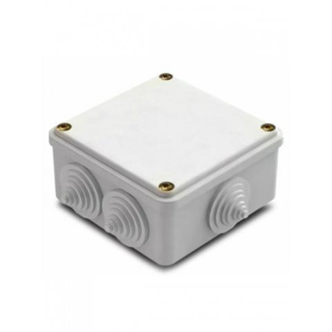 Изображение Коробка распаячная облегченного типа для нар. монтажа белая 100*100*45