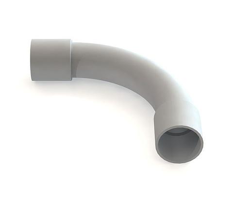 Изображение Поворот плавный с раструбами для жестких труб D20мм